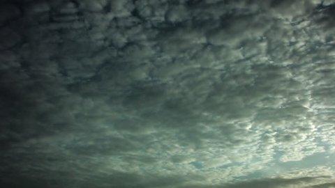 Timelapse of altocumulus clouds