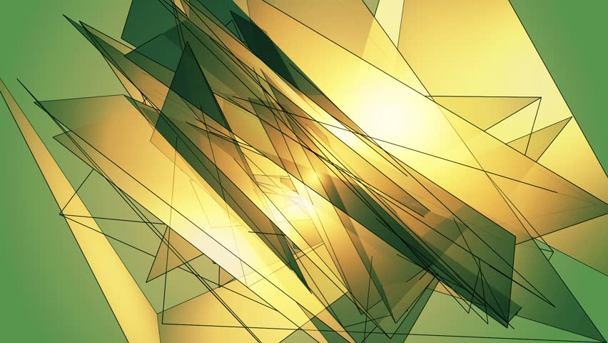 Bright triangles motion. Abstract technology and engineering multicolored background. Three Variations.  | Shutterstock HD Video #1015982743