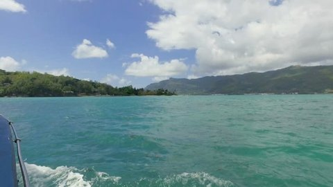 View Of Islands in Indian Ocean from the Boat, Mahe Island, Seychelles 1