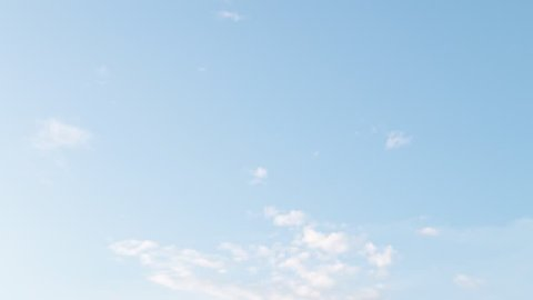 blue sky and clouds, video