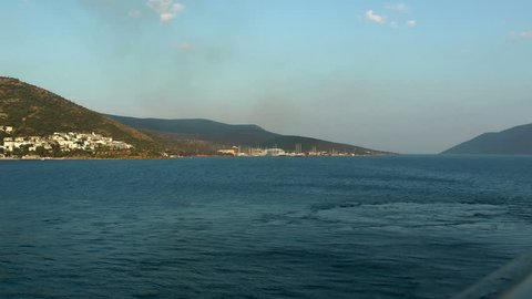 Sailing away from port of Bodrum