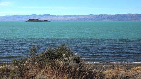 View of Lake Argentino from Laguna Nimez. El Calafate, Santa Cruz Province, Patagonia, Argentina