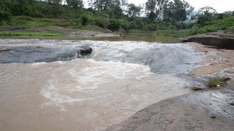 Beautiful view of Chaparai Waterfall in Araku Valley in monsoon season, Visakhapatnam, India.