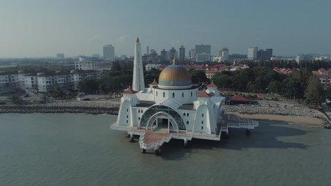 Melaka Masjid Pulau Melaka, Malacca Island Melaka Mosque