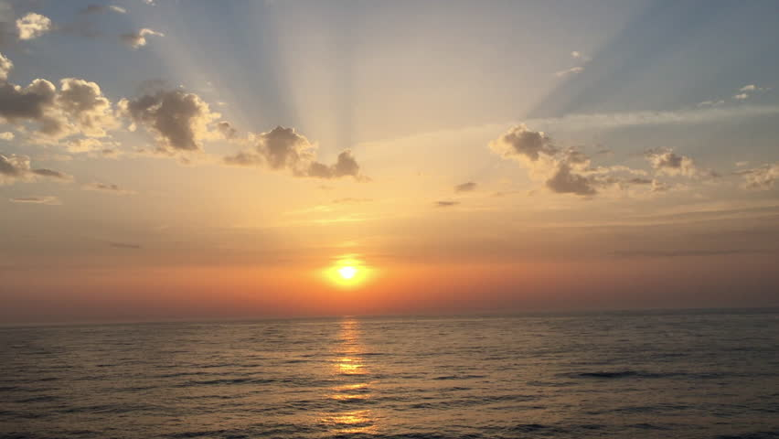 Sunset on the open sea | Shutterstock HD Video #1016089303