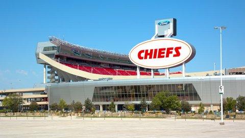 KANSAS CITY, MO - 2018: Arrowhead Stadium Arena Exterior Home of the Chiefs Professional NFL Football Team