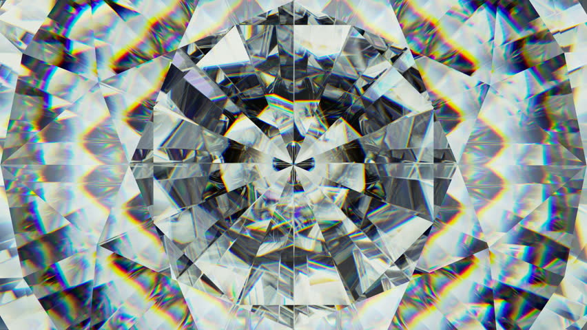Sparkling kaleidoscope gemstone macro rotating seamless loop. 3d render, 3d animation | Shutterstock HD Video #1016096833