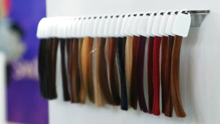 Hair Extensions Samples Royalty Free Stock Video In 4k And Hd