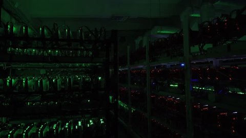 Computer for Bitcoin mining. Cryptocurrency computer with many peripheral slots