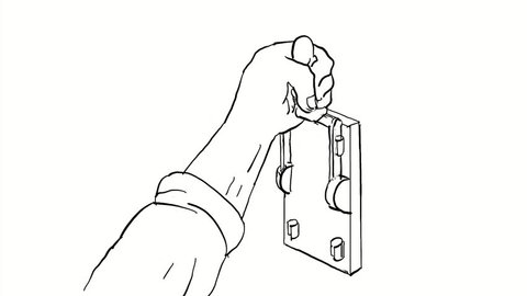 Light Switch Drawing Stock Video Footage - 4K and HD Video Clips | on camera drawing, cable drawing, engine drawing, screwdriver drawing, living room drawing,