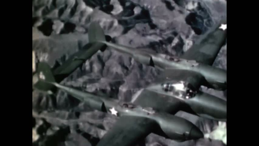 CIRCA 1943 - Animation is used to show how to bail out of a P-38.