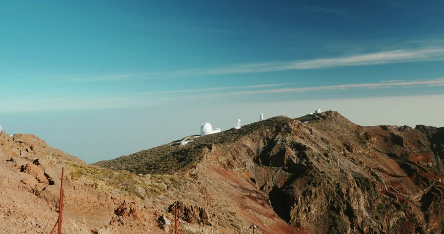 Majestic View at Roque De Las Muchachos Canyon, La Palma - Graded Version, Jib Shot. #1016278873