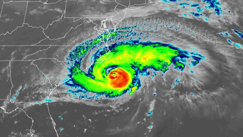 Hurricane Florence On Weather Radar Stock Footage Video (100% Royalty-free)  1016349703 | Shutterstock
