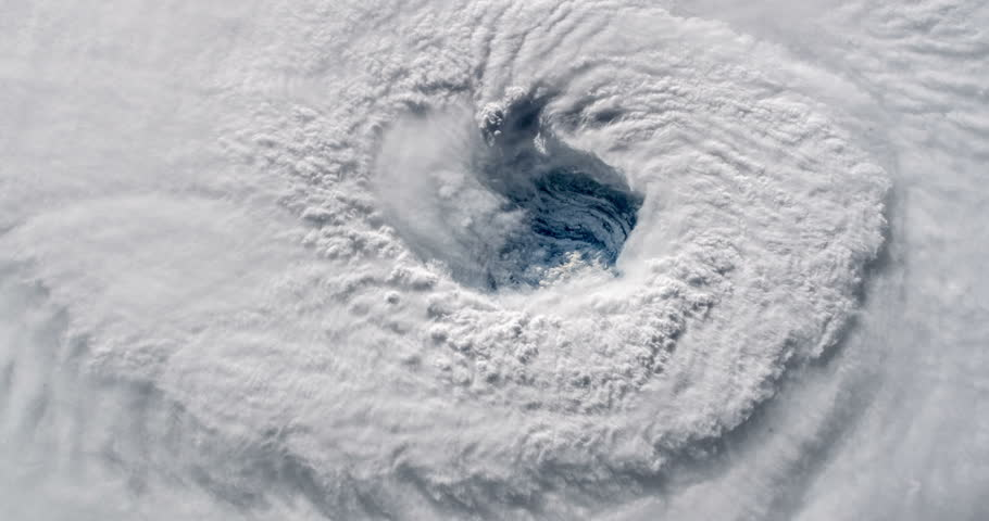 Hurricane Florence Eye Wall Elements of this clip furnished by NASA | Shutterstock HD Video #1016354263