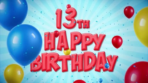 Image result for happy 13th birthday red