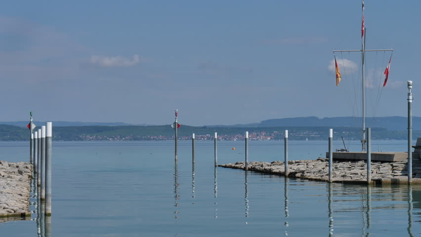 harbor mooring in water at harbor of Altnau. lake Bodensee, CH Switzerland. 13th Sept.2018