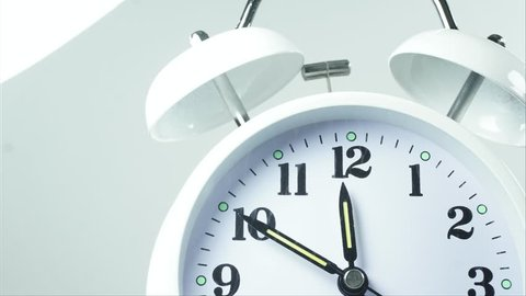 Alarm Clock at Time 12:00 Stock Footage Video (100% Royalty