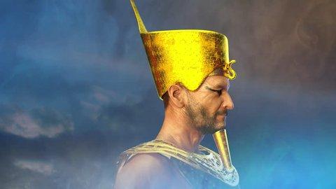 ancient Egyptian Pharaoh render 3D