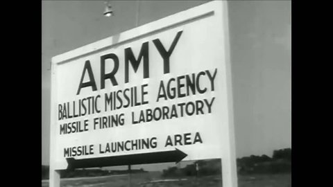 CIRCA 1950s - The launch of the Explorer 1 is postponed at the Army Ballistic Missile Agency launching area in Cape Canaveral, Florida.