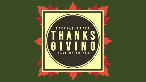 Special offer Thanksgiving animation style