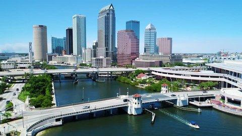Downtown Tampa skyline via Hillsborough River