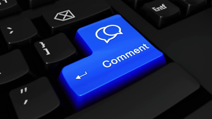 Comment Round Motion On Blue Enter Button On Modern Computer Keyboard with Text and icon Labeled. Selected Focus Key is Pressing Animation. social media concept | Shutterstock HD Video #1016700253