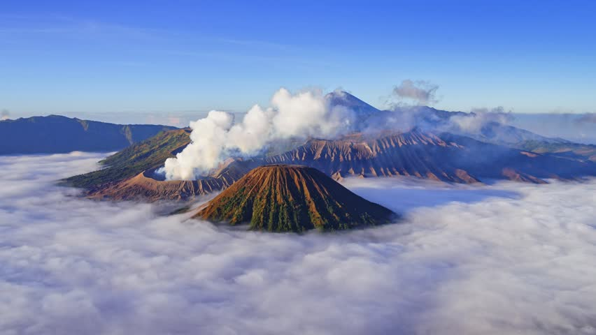 4K Time lapse of Bromo volcano at sunrise, East Java, Indonesia | Shutterstock HD Video #1016752153