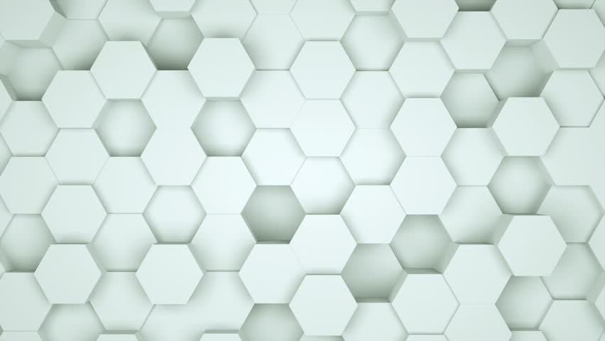 Many abstract geometric hexagons as wave, optical Illusion, computer generated 3D rendering backdrop   Shutterstock HD Video #1016754973