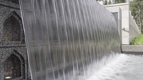 Islamic style garden waterfall