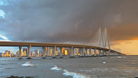 View of bandra Worli sea Link, Mumbai , September 2018
