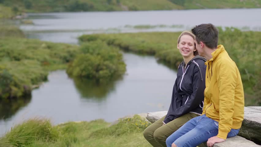 Perfect place to relax - young couple on vacation in Ireland | Shutterstock HD Video #1016931253