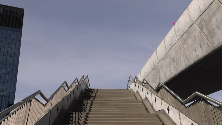 Modern stairs and banches. 4K, UHD, 50p, Cinematic,Closeup,  | Shutterstock HD Video #1017058153