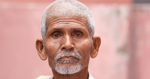 Indian Old Man Hyderabad India Stock Footage Video (100