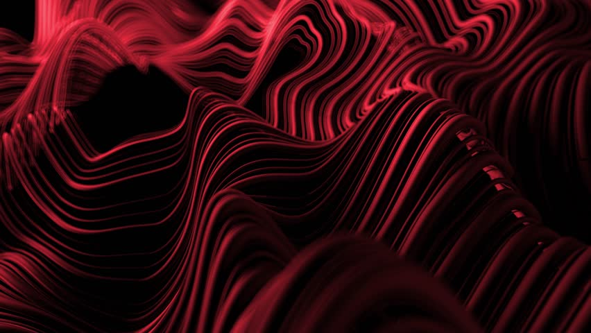 3d abstract background with wavy deformed thin and thick lines. Camera depth of field. Perfect for presentations. Organic flow lines. Loop animation.  | Shutterstock HD Video #1017308413