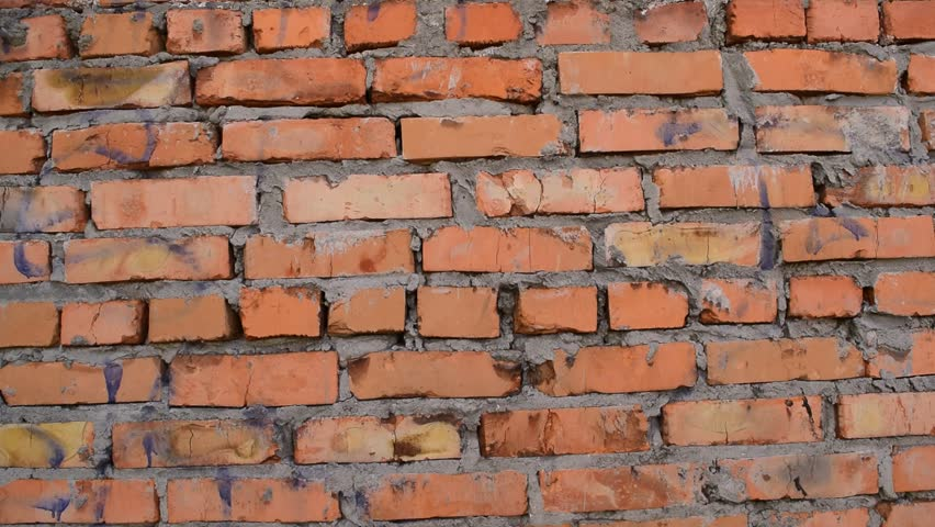 Background of old red brick wall. Background, texture