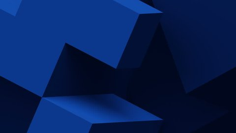 Abstract 3d rendering of moving geometric shapes. Modern looped animation background. Seamless motion design. 4k UHD