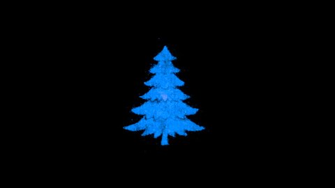Christmas Package. Set of Animations Christmas tree