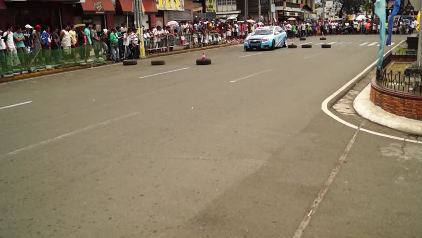 Laguna Philippines April Race Car Driver Over Steers