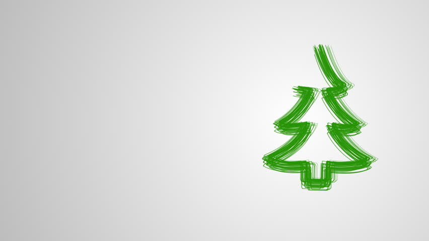 Merry Christmas Video Greeting Card Drawing Christmas Tree