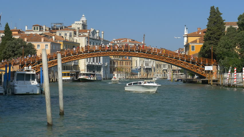 Ponte dell'Accademia, Venice. A popular spot for photography in the city | Shutterstock HD Video #1017811753