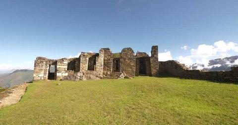 Choquequirao citadel, an Incan site in south Peru, similar in structure and architecture to Machu Picchu