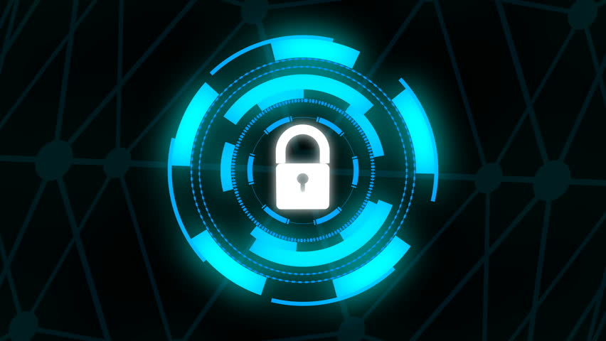 Security Concept Head up Display with padlock   Shutterstock HD Video #1018174123