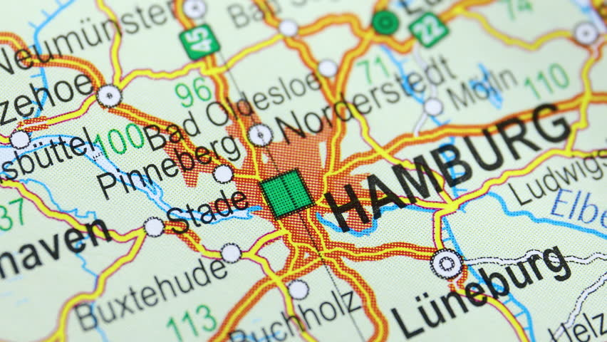 Map from the top, moving from Hamburg to Berlin, foreign affairs | Shutterstock HD Video #1018196023
