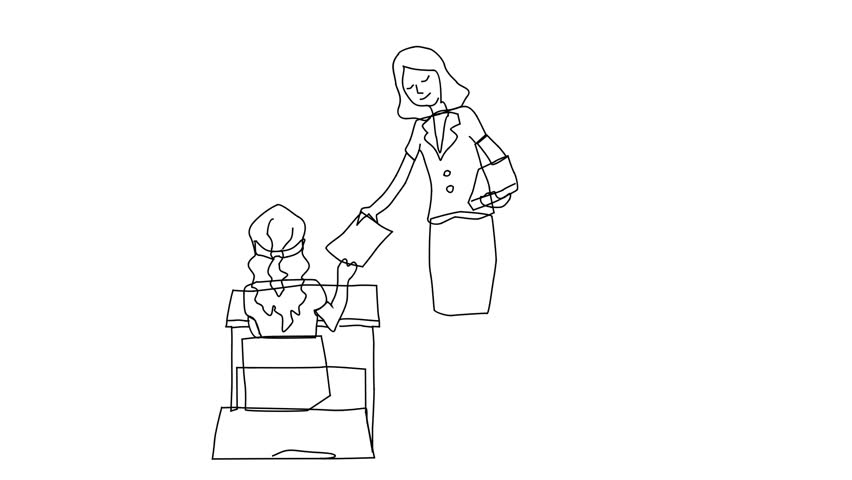 Test Draws On Doodles To Spot Signs Of >> Animated Sketch Vector Drawing Doodle Stock Footage Video 100