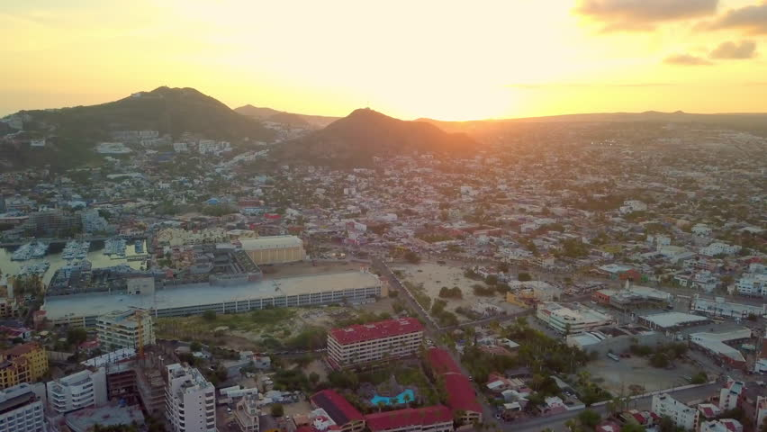 Aerial Slow Backward: Wide Area of Cabo San Lucas