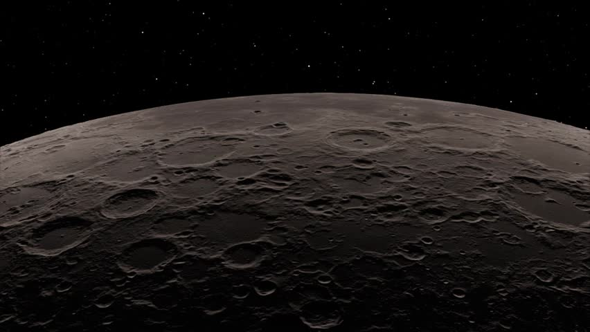 Half Moon Background / Realistic moon / The Moon is an astronomical body that orbits planet Earth. Elements of this image furnished by NASA | Shutterstock HD Video #1018546633
