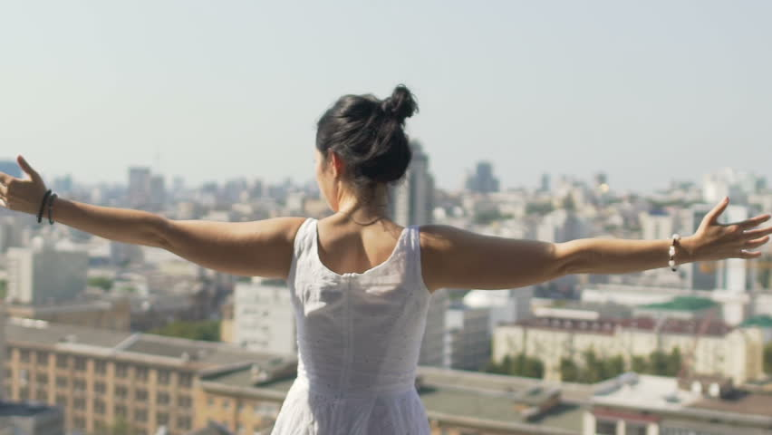 Woman Embraces City Background, Unity Stock Footage Video (100%  Royalty-free) 1018565743   Shutterstock