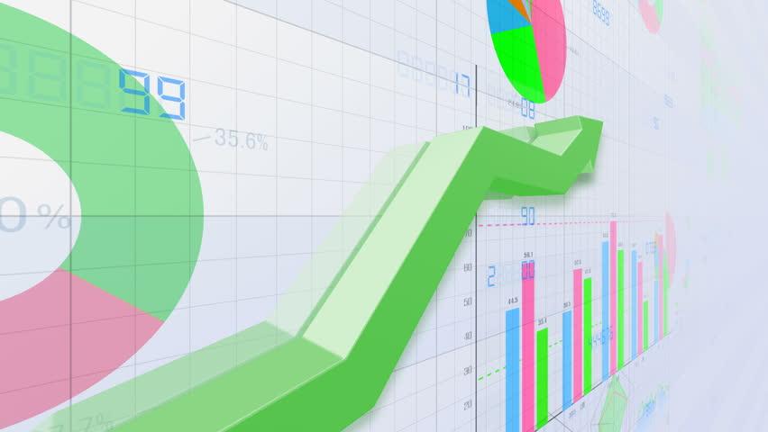 Business data graph chart bar | Shutterstock HD Video #1018566613