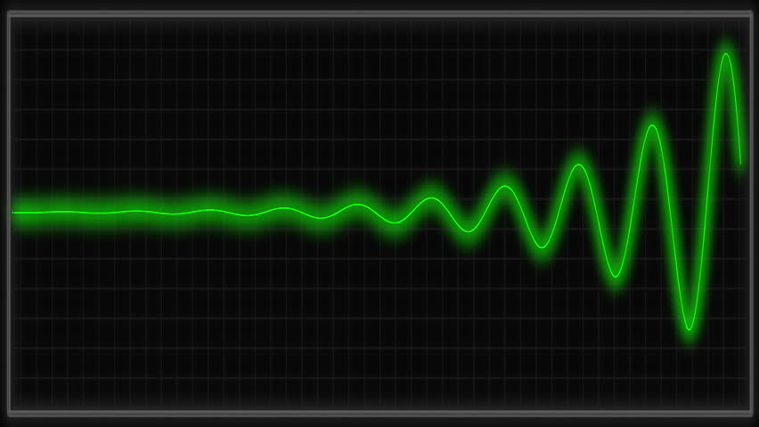 Vital signs monitor in green.