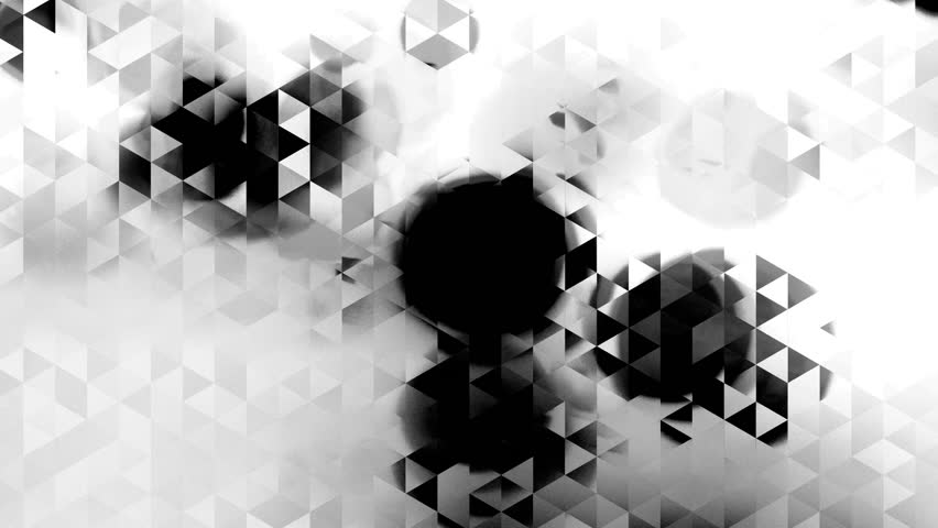 Graphic black and white animation with triangles and spots effects in background - Full HD | Shutterstock HD Video #10186253